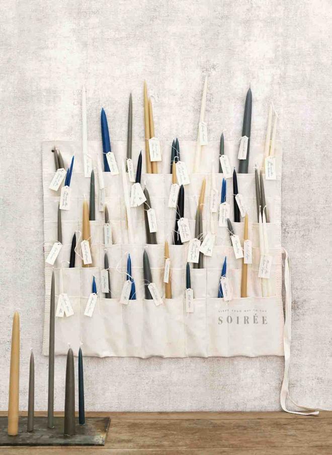 Paintbrush caddy favor display from Martha Stewart Weddings