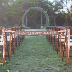 DIY ceremony aisle sign