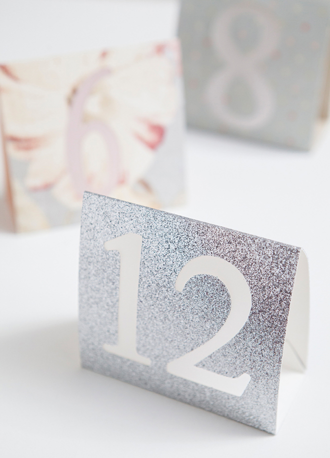 DIY Wedding - How to make simple table numbers with the Cricut Explore