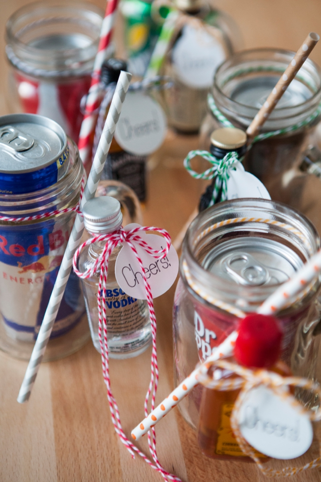 The original diy mason jar cocktail gifts for Homemade gifts in a jar for men