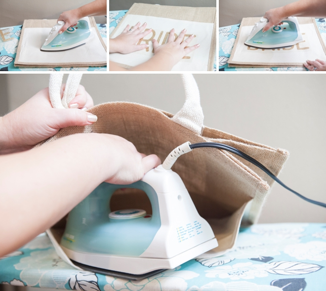 DIY - How to customize a tote bag with glitter iron-on material