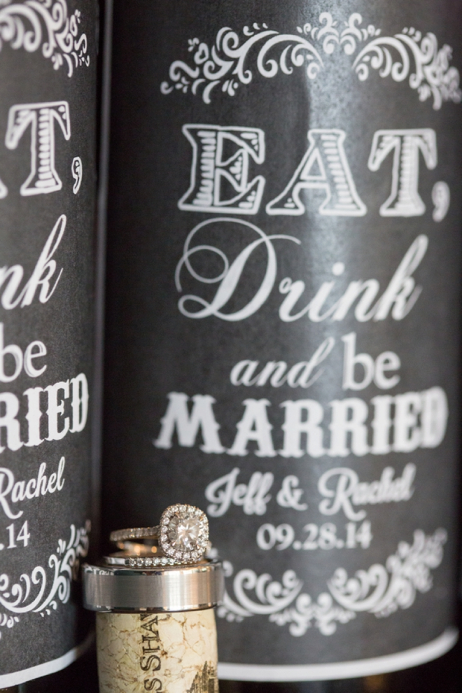 Wedding rings shot on cork