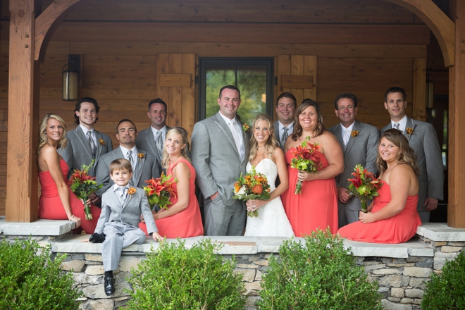 Fall wedding party