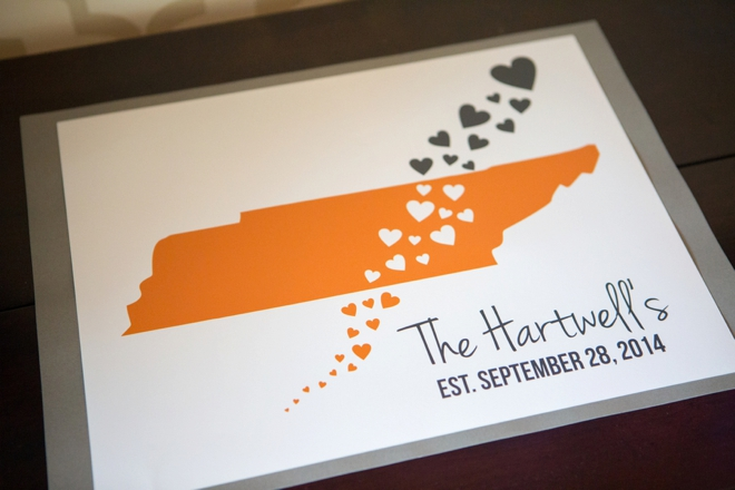 Tennessee wedding guest book