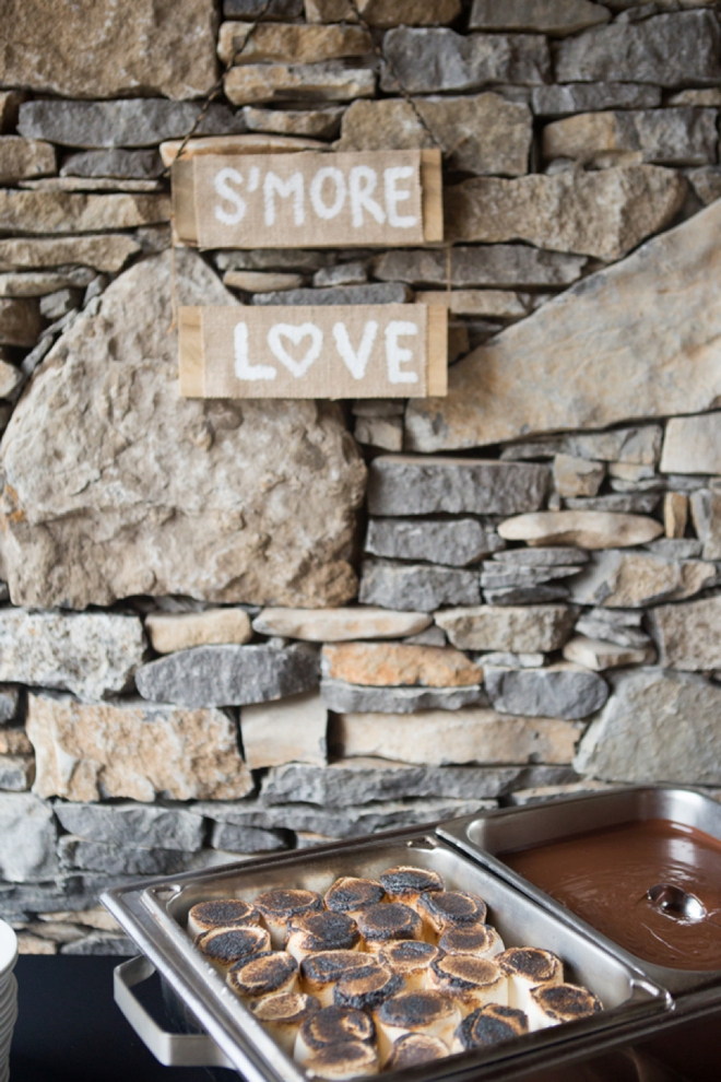 S'more Love - wedding s'mores bar