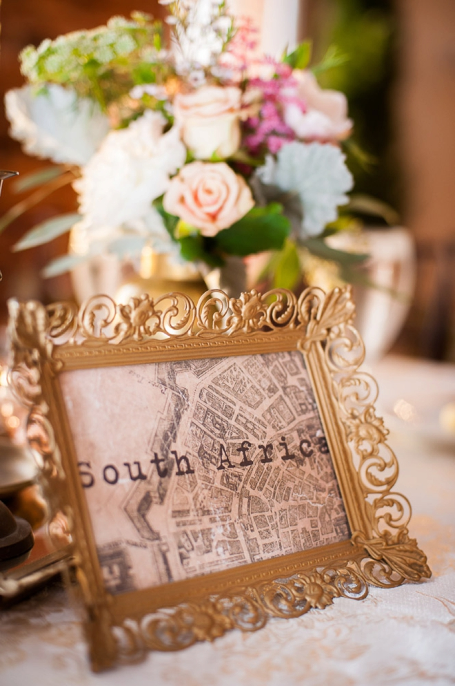 Travel locations for table numbers