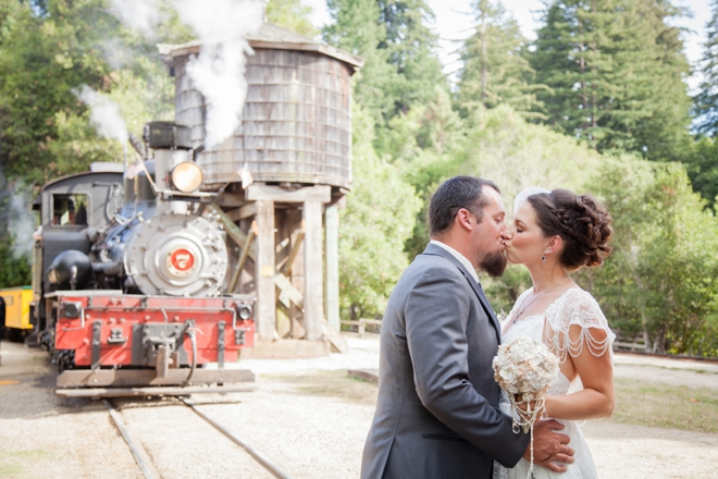 DIY vintage themed train station wedding