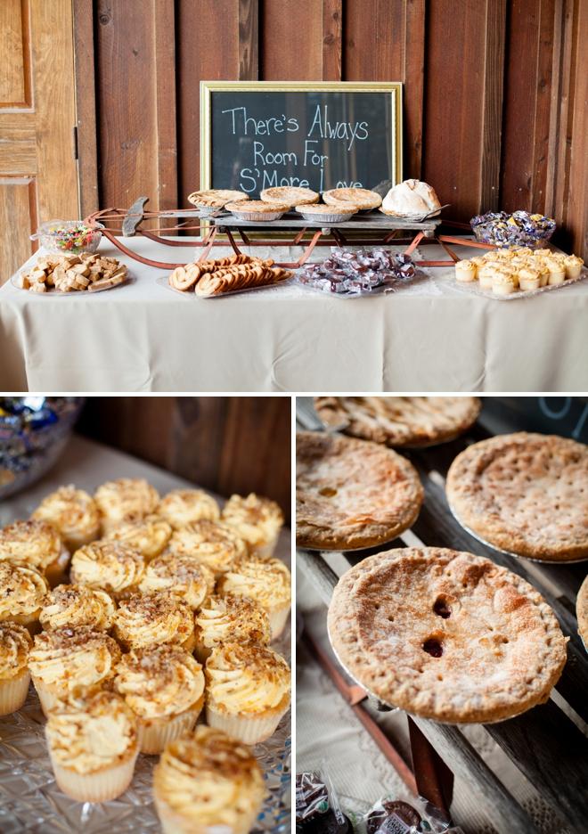 Wedding Pie and dessert bar