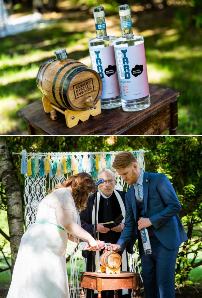 Making Whiskey in the wedding ceremony