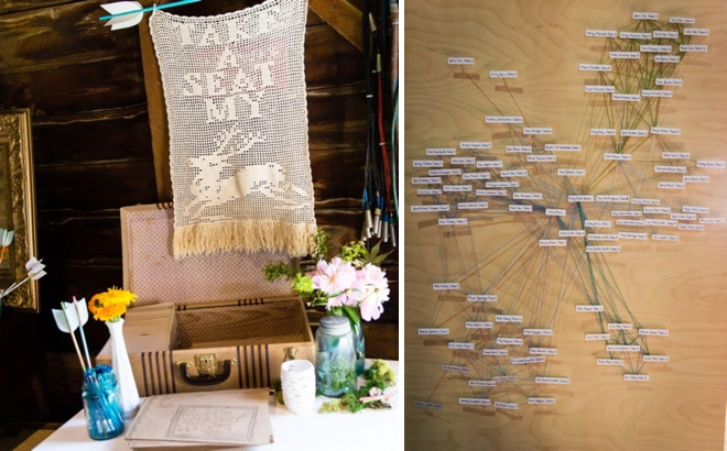 String art seating chart