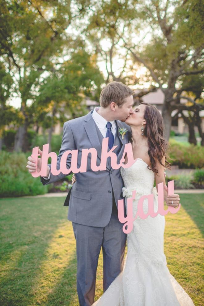 Thanks Y'all - wedding sign