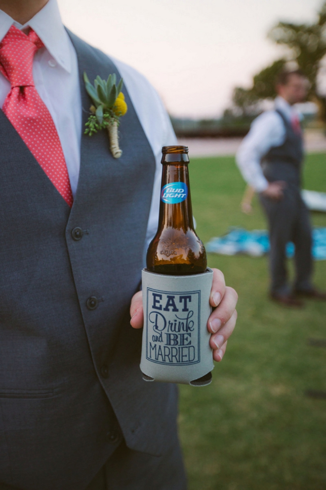 Eat, Drink and be Married - beer cozy
