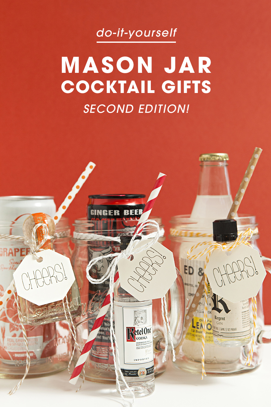 Awesome Cheap DIY Gift Idea Mason Jar Cocktails