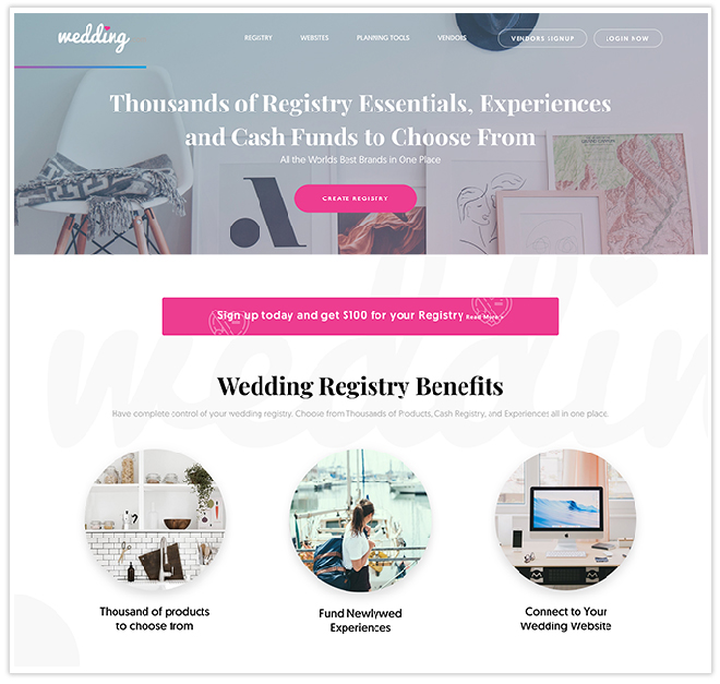 Wedding.com has an amazing new online wedding registry!