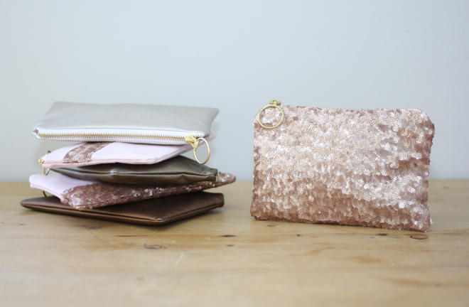 Metallic and Sequin bags from Almquist Design Studio