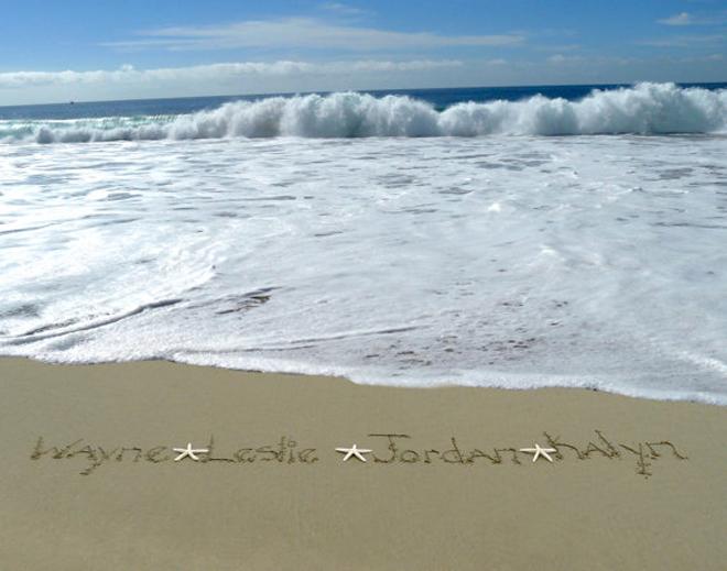 Custom sand art print from Nature's Notebook