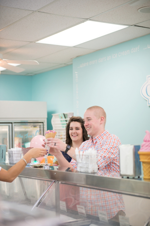 Ice Cream Parlor engagement shoot