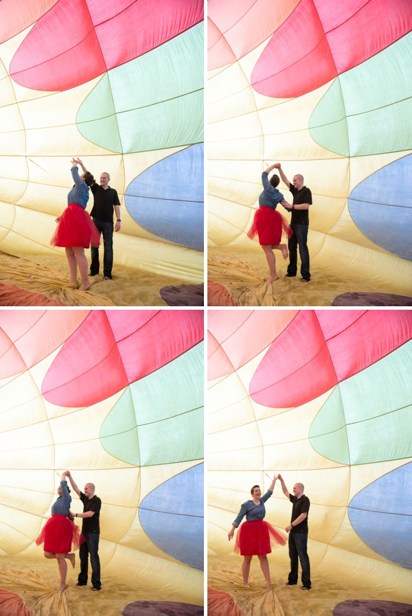 Hot air balloon engagement