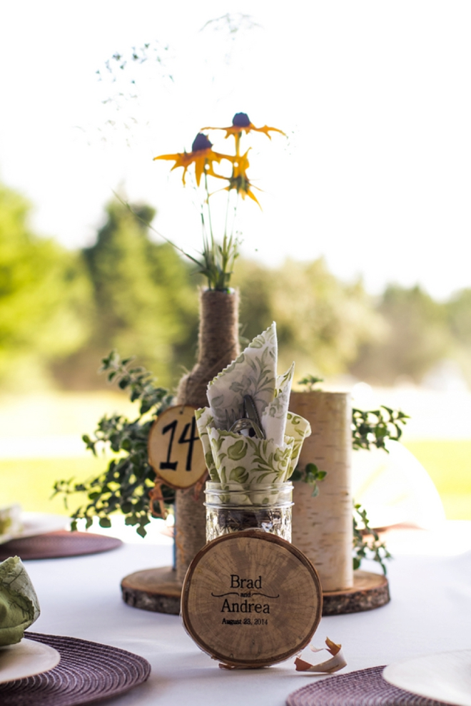 Beautiful DIY mountain wedding table