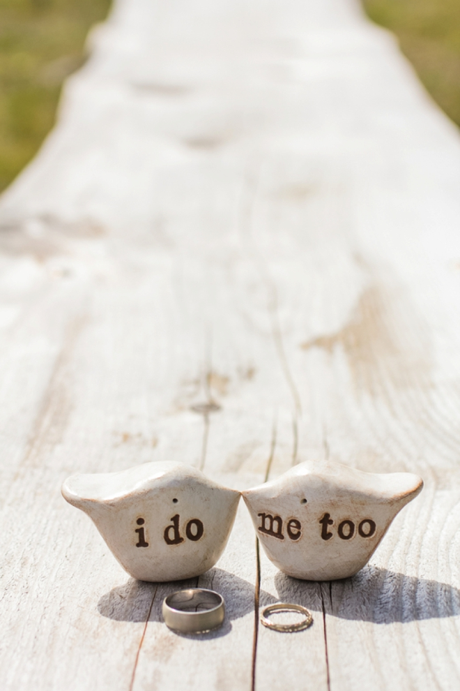 I do - Me too, cake topper