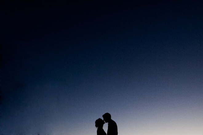 Midnight kiss in the dark