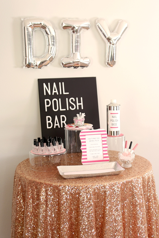 DIY Nail Polish Bar! Perfect for a bridal shower or girly party!
