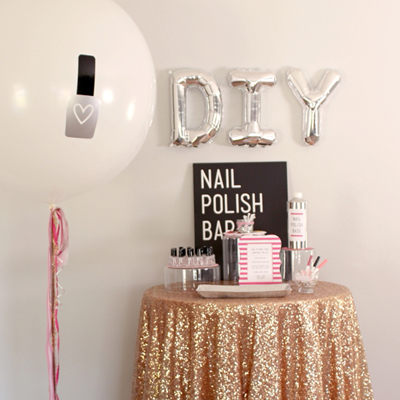 Check out this gorgeous DIY Nail Polish Bar!