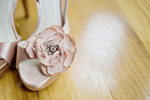 Pale pink Vera Wang wedding shoes