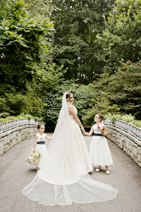 The bride and her flower girls