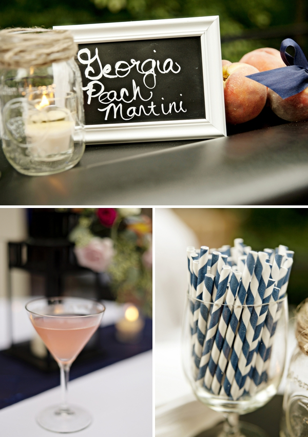Peach martini wedding signature drink