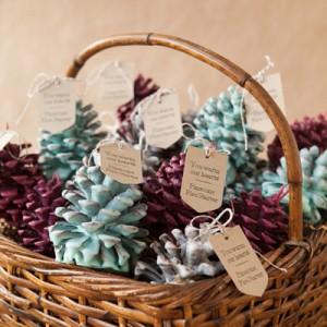DIY - Pinecone Fire Starter Wedding Favors