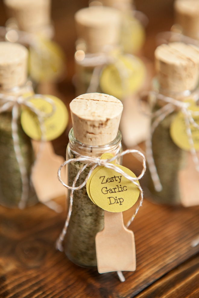 DIY Wedding Favors -- Zesty Garlic Dip!