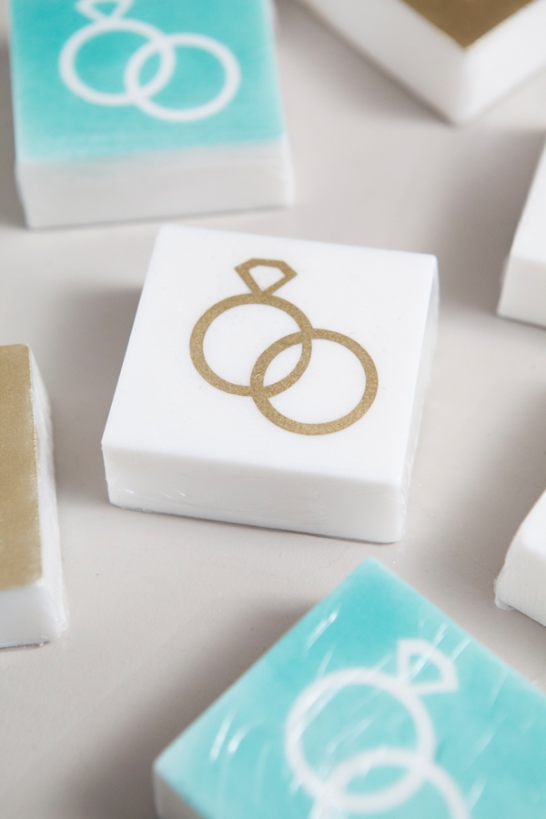 DIY Wedding -- How to make stenciled soap favors!