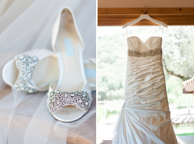 Brides dress and shoes