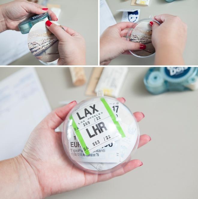 DIY - How to make a honeymoon keepsake ornament!