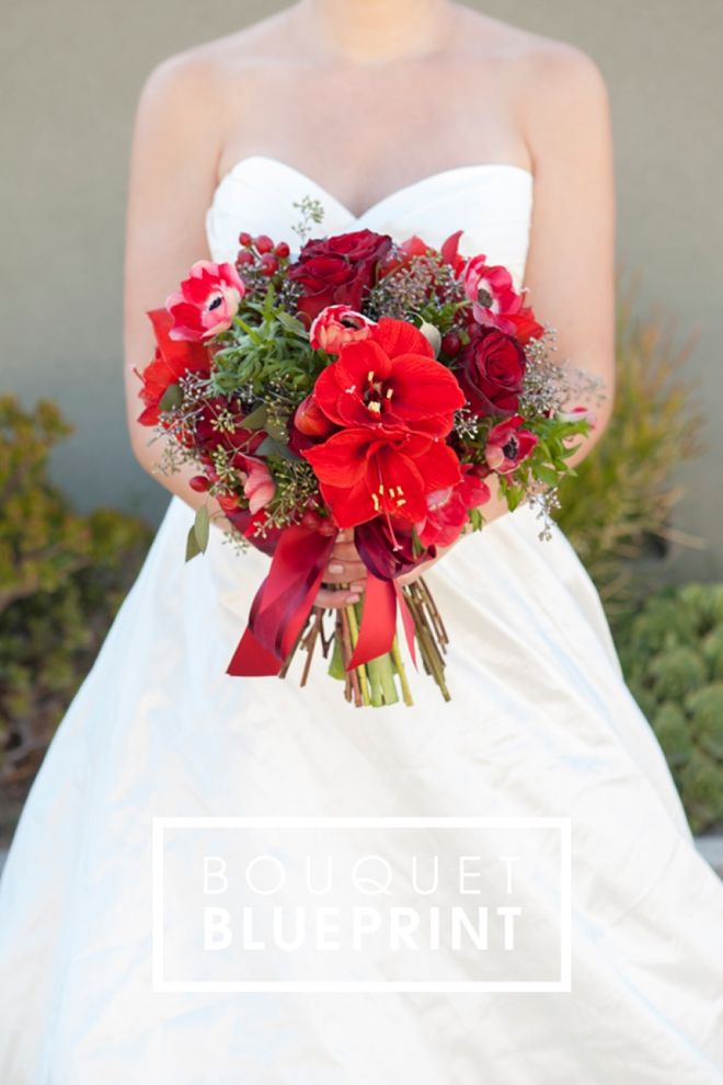 Bouquet Blueprint Stunning Red Christmas Wedding