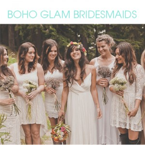 Boho Glam Bridesmaid Ideas
