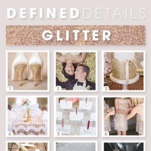 Glitter wedding ideas