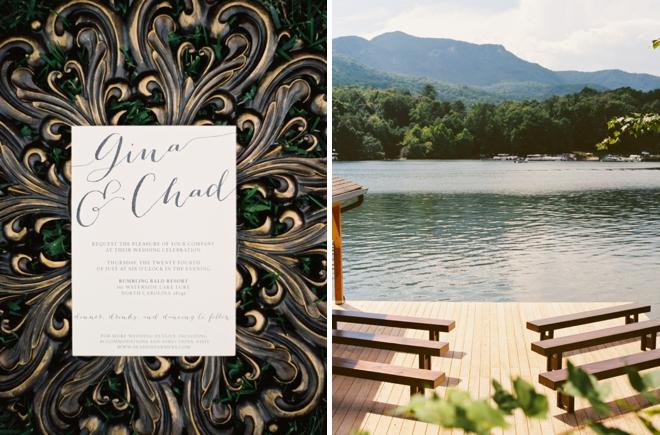 Invitation and lake.