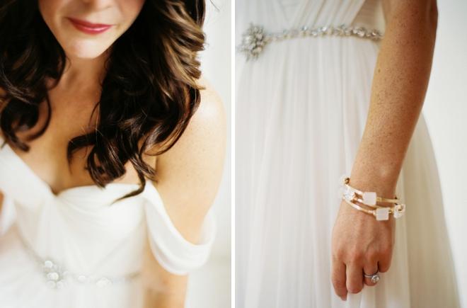 The gorgeous bride.