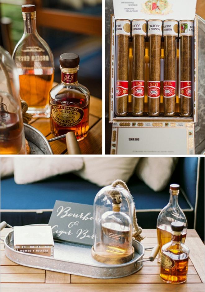 Wedding -- Bourbon and Cigar Bar.