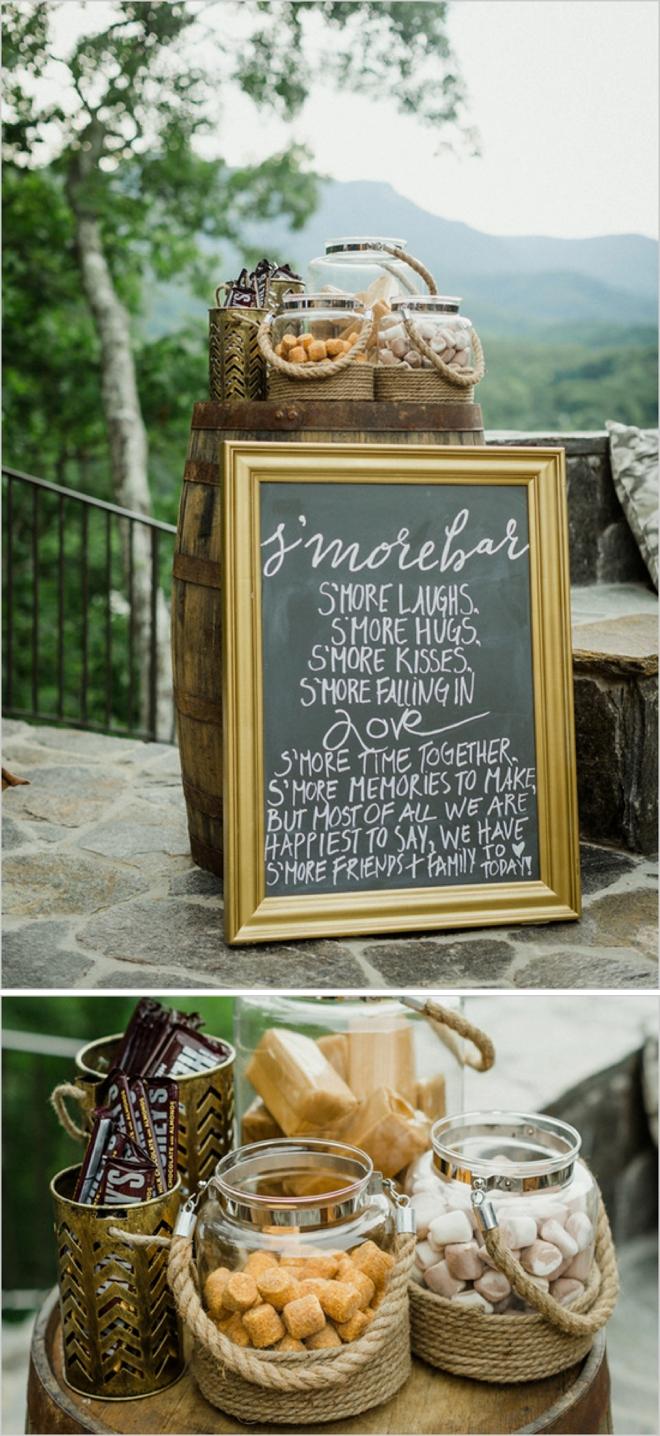 Killer wedding S'mores bar!