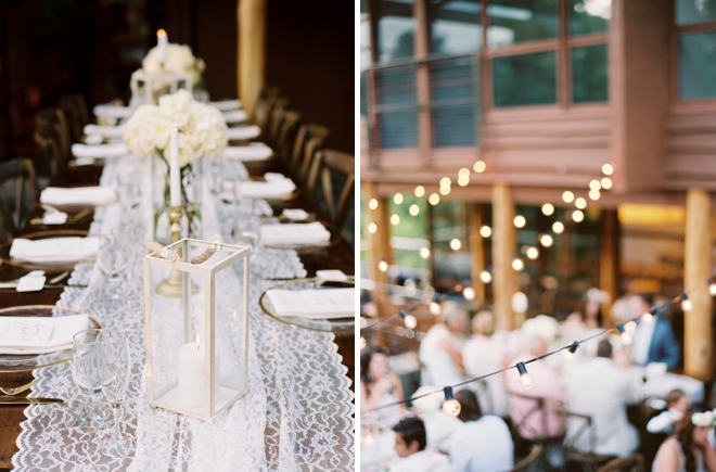 Gold and lace wedding details
