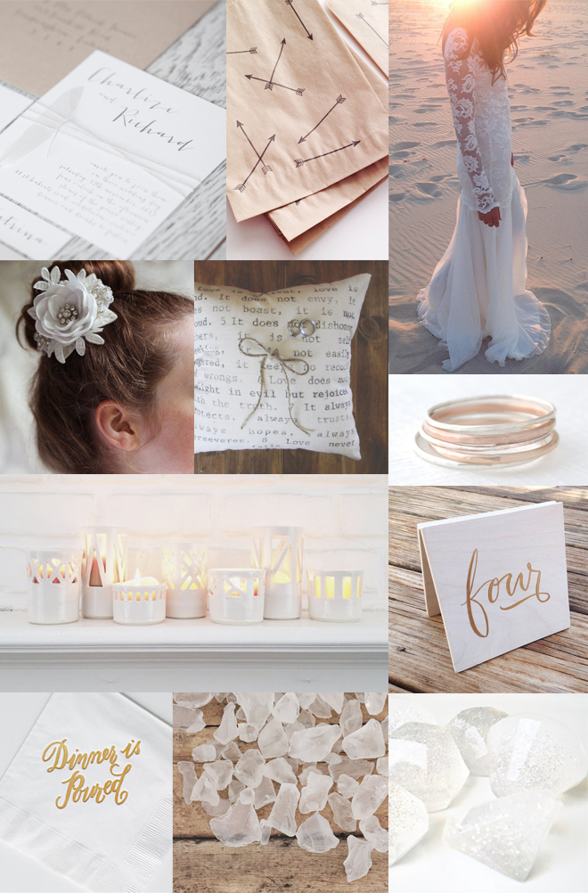 White Wedding Inspiration from current Etsy listings