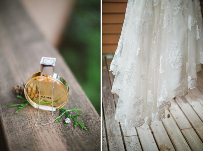 Perfume and wedding dress