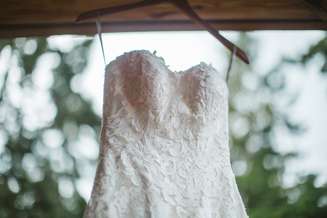 Beautiful lace Maggie Sottero wedding dress