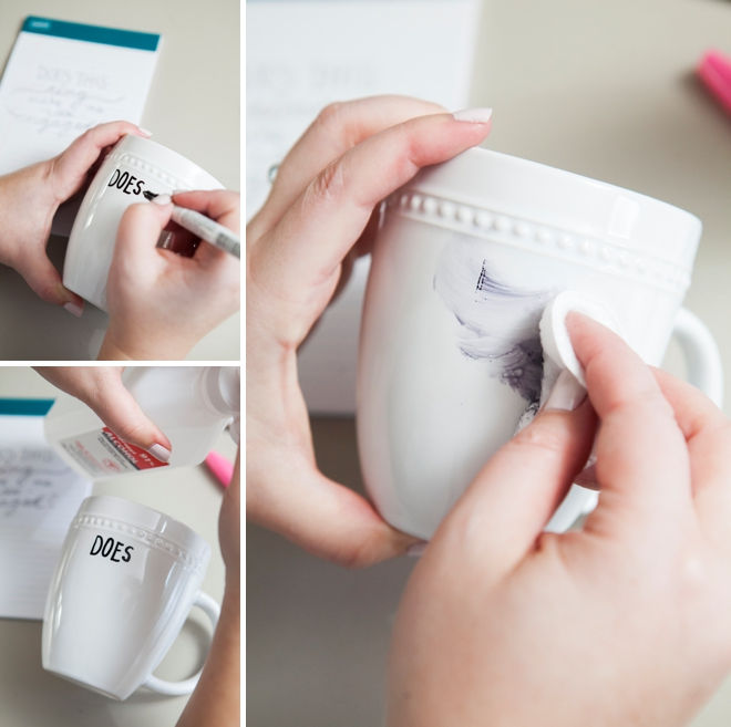 DIY Sharpie Paint Pen - Engagement Gift Mug