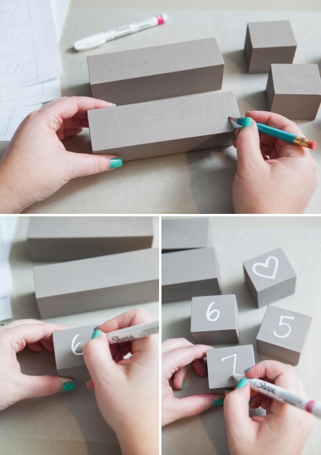 How to make Wedding Countdown Blocks.