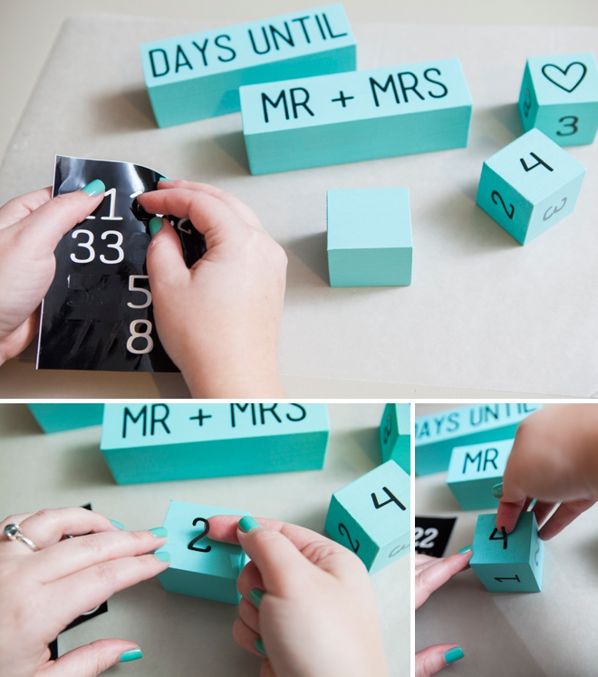 How to make Wedding Countdown Blocks!