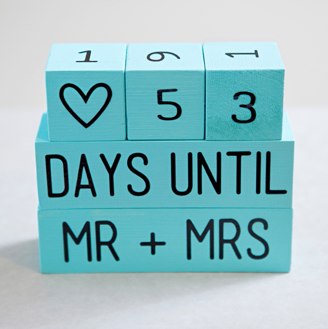 How to make Wedding Countdown wood blocks
